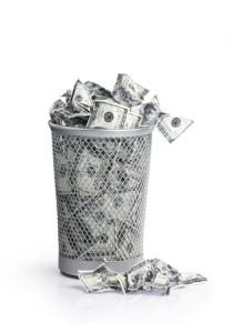 throw money away